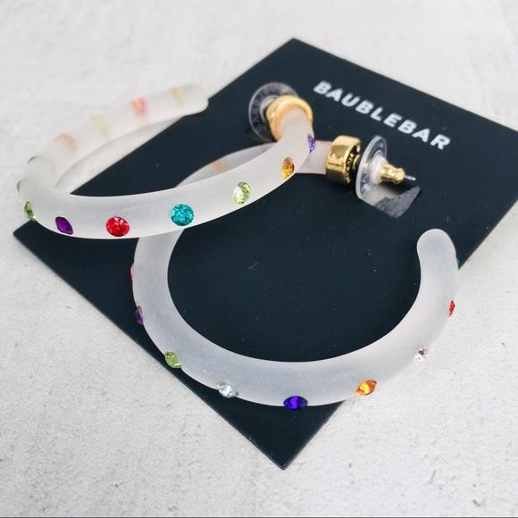 03dd0886a BaubleBar Jewelry | Bauble Bar Teryn Resin Hoop Earrings | Poshmark